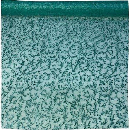 Organza Decorada Tiffany 50cm x 1,50cm