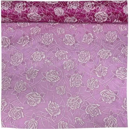 Organza Flores Pink 50cm x 1,50cm
