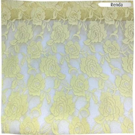 Renda com Elastano Amarelo 50cm x 1,50m