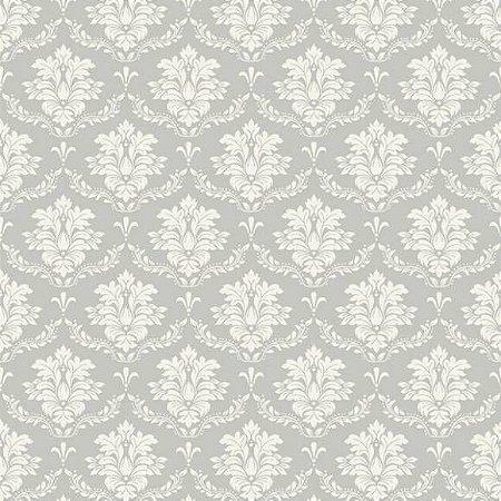 Tricoline Damask Cinza 50cm x 1.50m largura