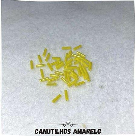 Canutilhos Com Furo Amarelo 0,7mm