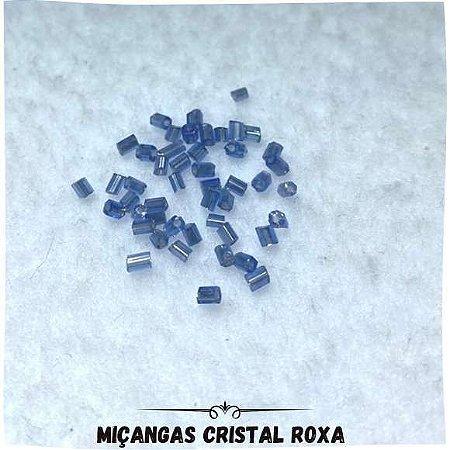 Miçanga Com Furo Cristal Roxa 0,2mm