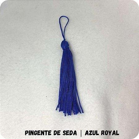 Pingente de Seda | Azul Royal 8cm