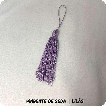 Pingente de Seda | Lilás 8cm