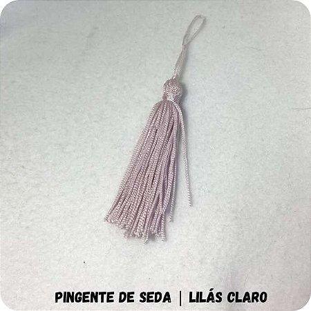 Pingente de Seda | Lilás Claro 8cm