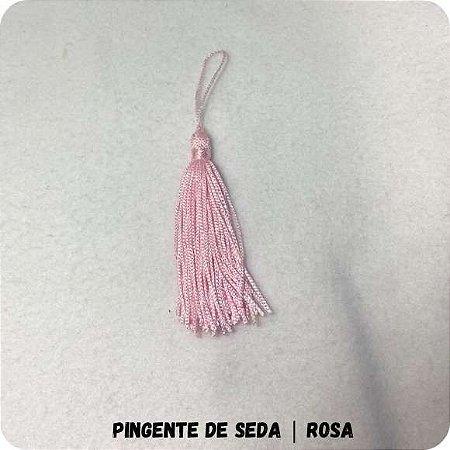 Pingente de Seda | Rosa 6cm
