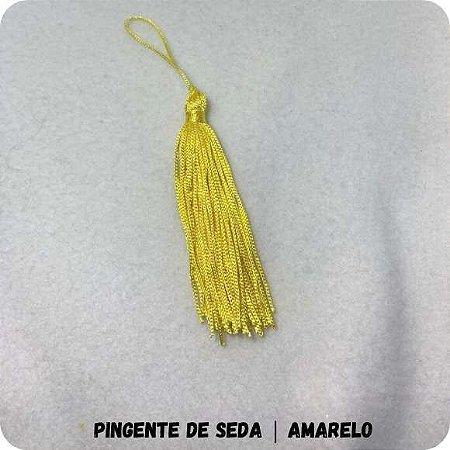 Pingente de Seda | Amarelo 8cm
