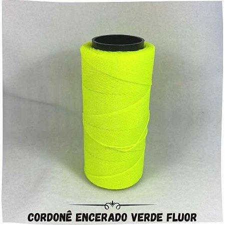 Cordonê Encerado Verde Fluor