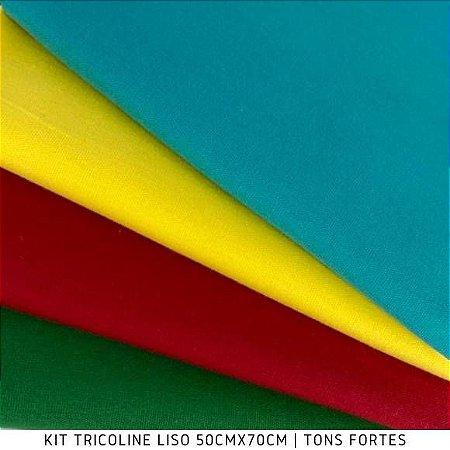 N05Kit Tricoline Liso Tons Forte 50cm x 70cm
