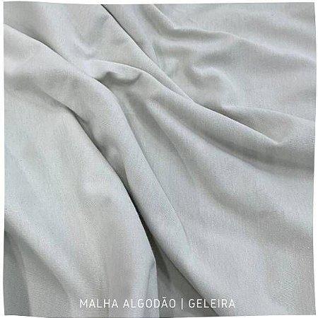 Malha 100% Algodão Penteada fio 30/1 Geleira 50cm x 90cm (tubular)