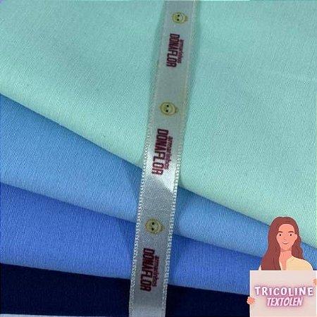 N02 Kit Tricoline Misto Tons Azul (4tecidos) 50cm x70cm
