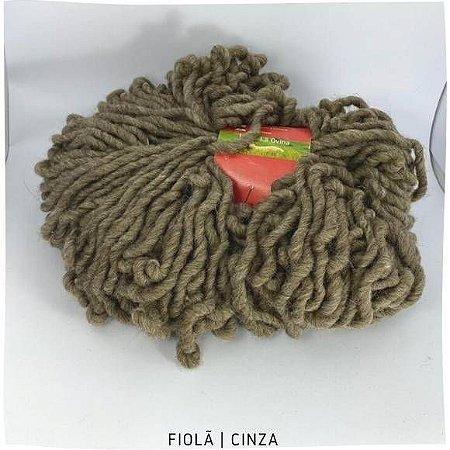 Lã   Corriedale Brinco de Princesa Cinza  200gr