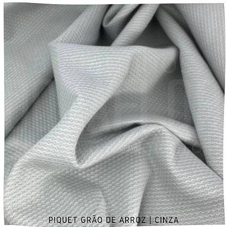 Piquet Grão de Arroz Cinza 50cm x 1,45m