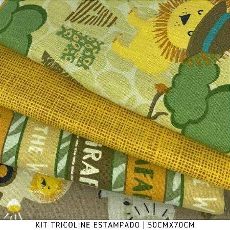 Kit Tricoline 4tecidos Safári 4tecidos 50cmx70cm cada