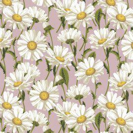 Tricoline Daisy Blossom Rose 50cm x 1.50m largura