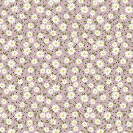 Tricoline Tiny Daisy Rose 50cm x 1.50m largura