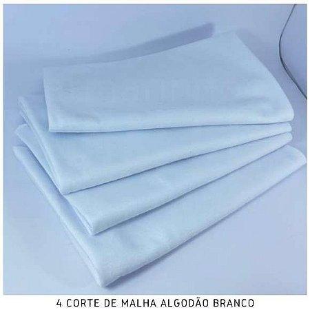 Malha Algodão Branca 4cortes de 50x80cm cada