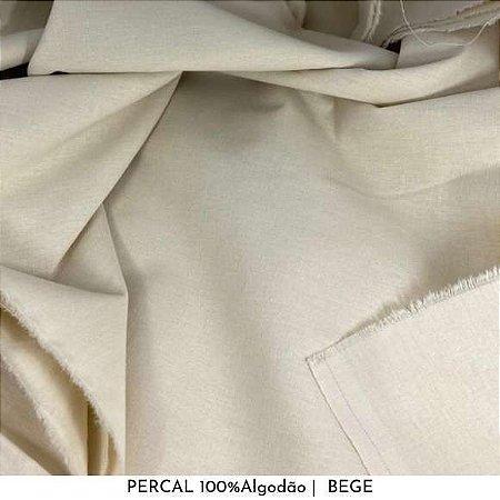 Percal Bege 100% Algodão 50cm X 2,50m de largura