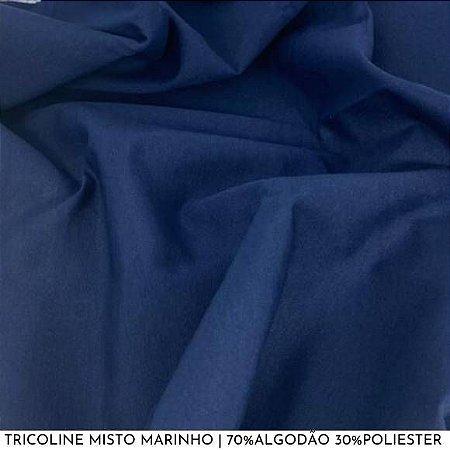 Tricoline Misto Marinho 50cm x 1,50m