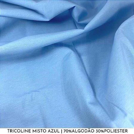 Tricoline Misto Azul 50cm x 1,50m