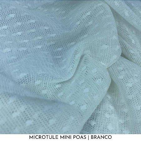 Microtule Mini Poas Branco 50cm x 1,50m