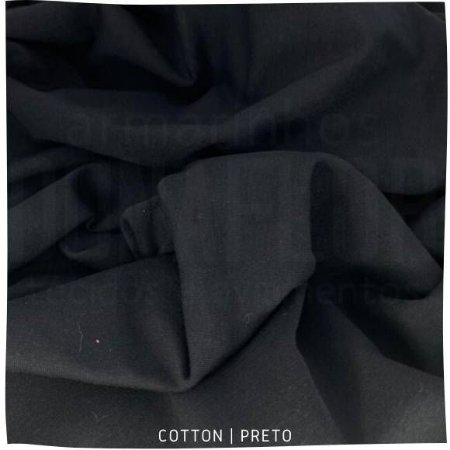 Cotton Preto Egyptian  50cm x1,70m