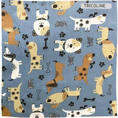 Tricoline Dog Woof 50cm x 1.50m largura