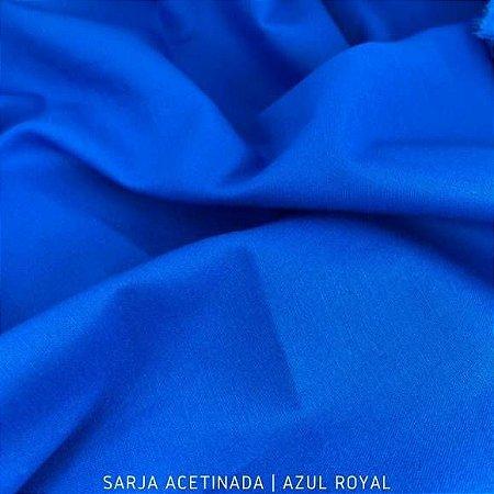Sarja Lisa acetinado Azul Royal 50cmx1.40m