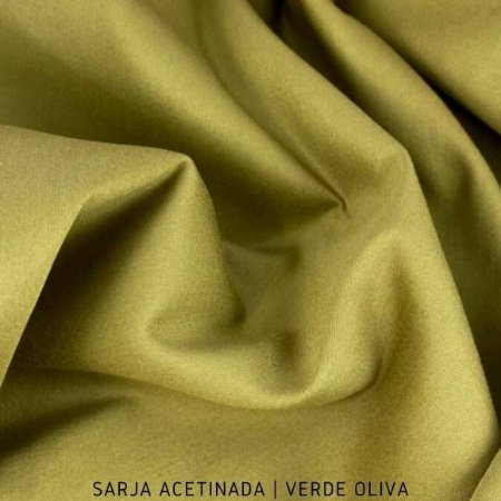 Sarja Lisa acetinado Verde Oliva 50cmx1.40m