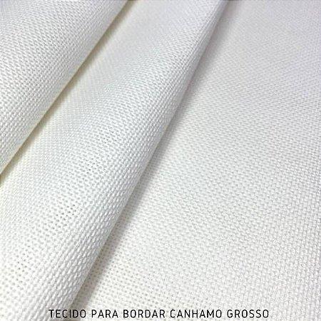 Tecido para Bordar Cânhamo Grosso Branco 50cm x 1,50m