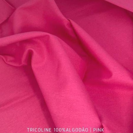 Tricoline Liso 100% Algodão Pink 50cm x 1,50m