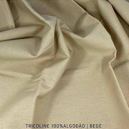 Tricoline Liso 100% Algodão Bege 50cm x 1,50m
