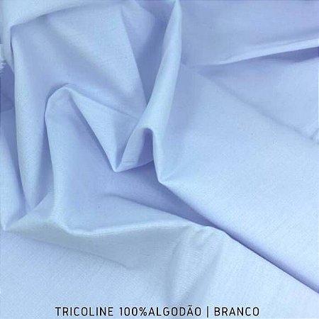 Tricoline Liso 100% Algodão Branco 50cm x 1,50m