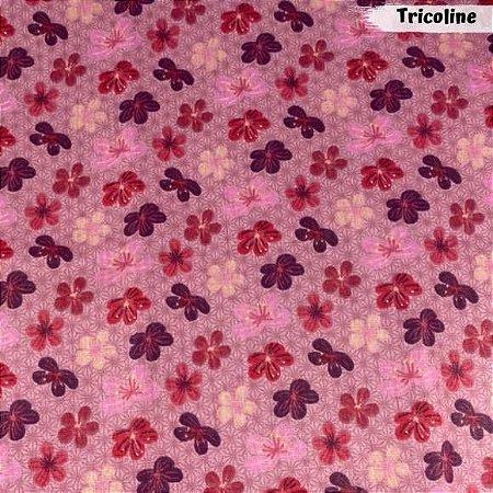Tricoline Flores de Cerejeiras 50cm x 1,50m Largura