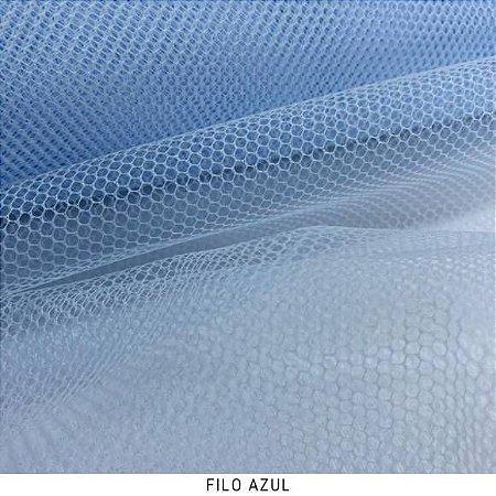 Filó Para Armação Azul 50cm x 3m largura