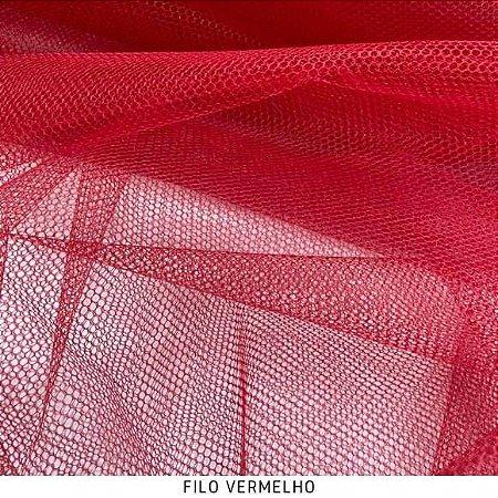 Filó Para Armação Vermelho 50cm x 3m largura
