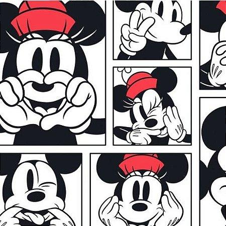 Tricoline Mickey e Minnie 50cm x 1.50m