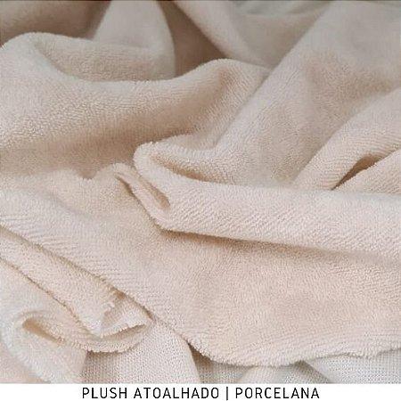 Plush Atoalhado Porcelana Tecido Felpudo Extra Macio 50CMX1.70M