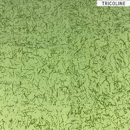 Tricoline Grafiato Verde 50cm x 1,50m Largura