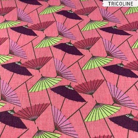Tricoline Sombrinhas Orientais  50cm x 1,50m Largura