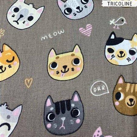 Tricoline Cat Meow 50cm x 1,50m Largura
