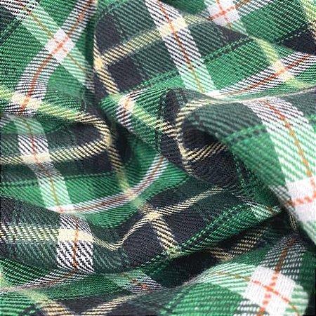 Flanela Xadrez tons Verde 50cm x 1.40m