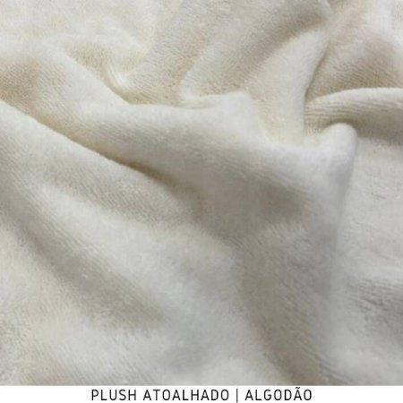 Plush Atoalhado Algodão Tecido Felpudo Extra Macio 50CMX1.70M