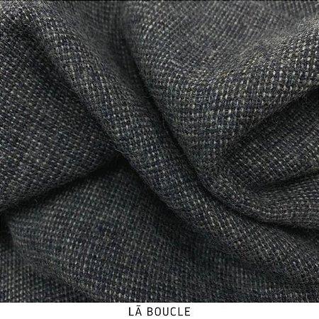 Tecido Lã Boucle Grafite 50cmx1,50m