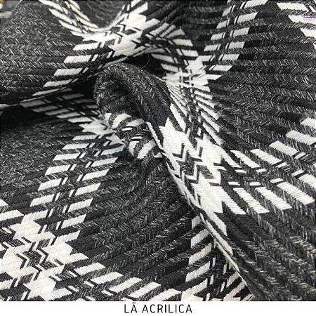 Tecido Lã Acrilica Quadrado Maior  50cmx1,50m largura