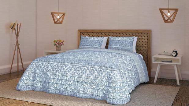 Jogo de cama Teka Diamante 4 peças 150 fios 270cm Oriente-King