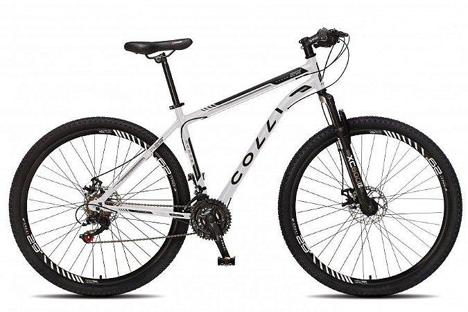 Bicicleta Colli Athena Aro 29 21m Freio a Disco com kit Shimano- Branca