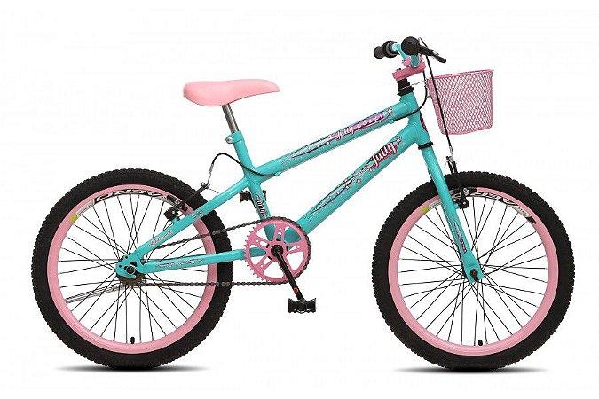 Bicicleta Colli Jully Aro 20 sem marcha- Azul Thiffany