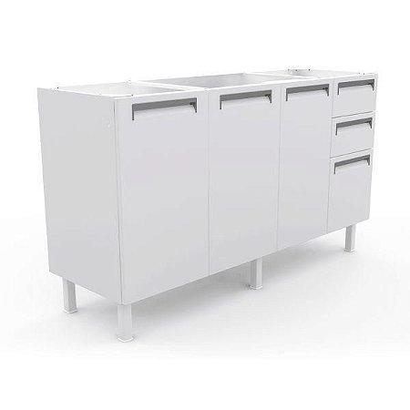 Gabinete para Pia Colormaq Roma em Aço 1,50cm-Branco