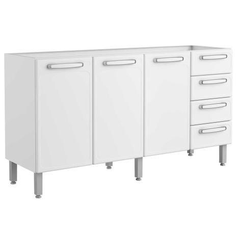 Gabinete Para pia Bertolini Aço 1,60cm- Branco